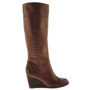 EUC Lucky Brand Sanna brown leather boots 7.5